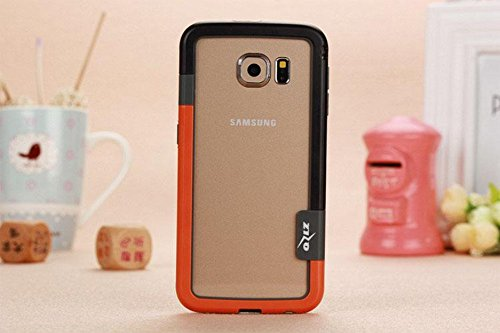 Cell Accessories For Less (TM) For Samsung Galaxy S6 - SliK Hard TPU Bumper Case Cover - Orange Bundle (Stylus & Micro Cleaning Cloth) - By - Me Near Orange Shops