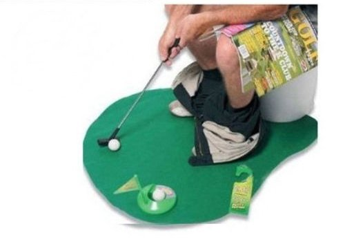 2sets of A99 Golf Toilet Bathroom Mini Golf Mat Set Game Potty Putter by A99 Golf (Image #1)