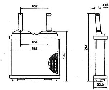 Van Wezel 37006094 intercambiador de calor para sistema de calefacci/ón