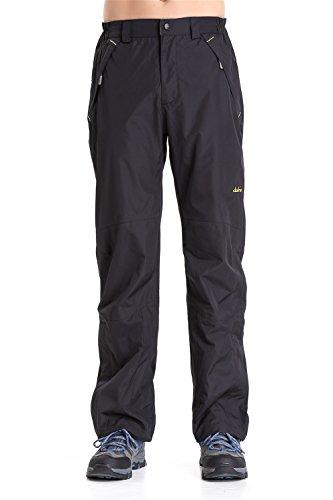Clothin Mens Snow Pants / Fleece Lined Ski Pants / Waterproof(US 2XL,Black)