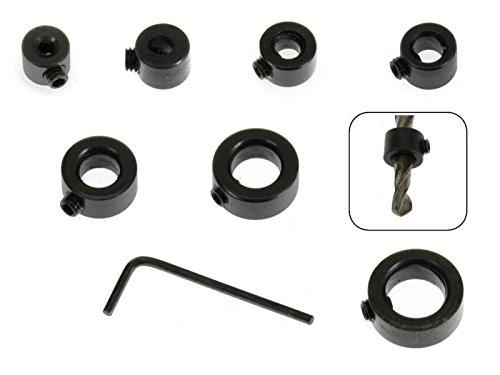 8 tlg Set Tiefenanschlagringe 3 - 12 mm MS Warenvertrieb