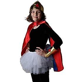 - 41qcKRoKozL - Making Believe Girls Gold Wonderful Superhero Costume Cuffs and Headband Set