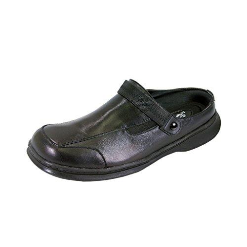 24 Hour Comfort  Clara Women Wide Width Professional Sleek Clog Black 11 - Clara Clogs