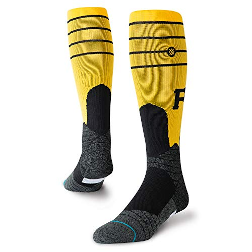 Stance M759B19PIT Men's PIRATES STIRRUP Over the Calf Socks, Yellow - L -