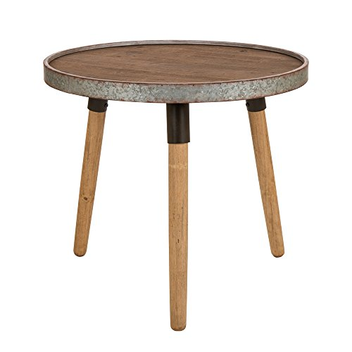 Glitzhome Round Side Table Metal Round End Table 21