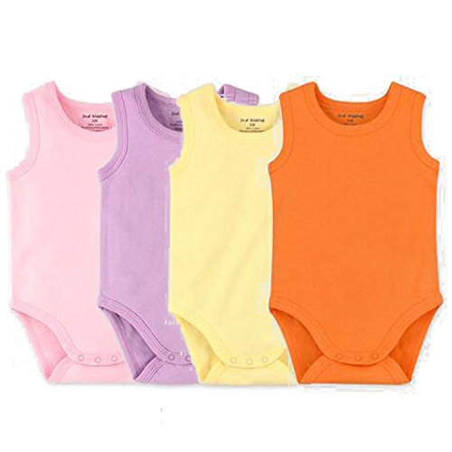 (Infant Baby Girls Boys Sleeveless Onesies Tank Top Cotton Baby Bodysuit Pack of Summer Clothes Outfit (6-9 Months))