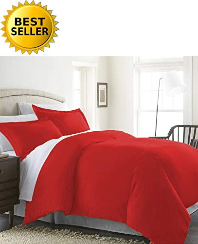 Celine Linen Wrinkle & Fade Resistant 2-Piece Duvet Cover Set - Protects and Covers Your Comforter/Duvet Insert, 1500 Series Luxurious 100% Hypoallergenic - Silky Soft, Twin/Twin XL, - Comforter Celebrity Set