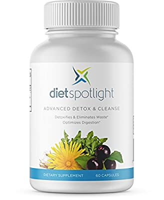 Dietspotlight Advanced Detox & Cleanse - One Month Supply - All Natural Formula For Healthy Digestive System