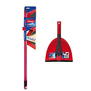 Vileda 2-in-1 Anti-Dust Broom Plus Dustpan Set
