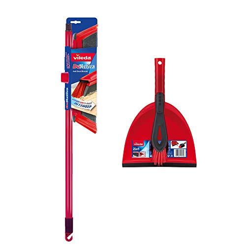Vileda 2-in-1 Anti-Dust Broom Plus Dustpan Set