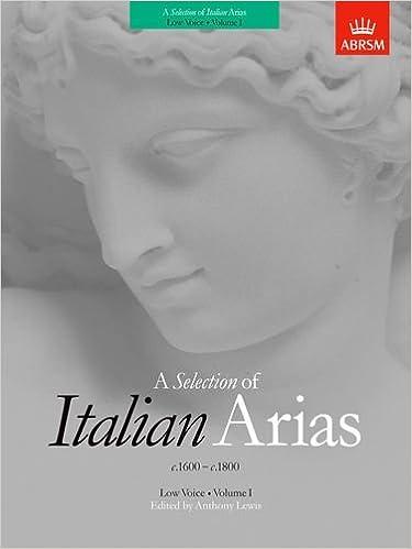 a selection of italian arias 1600 1800 v 1
