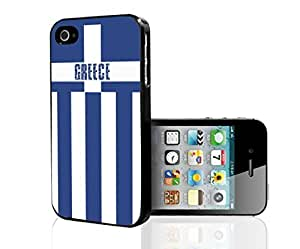 Blue and White Greece Soccer Flag Fan Art Hard Snap on Phone Case (iPhone 4/4s) by supermalls