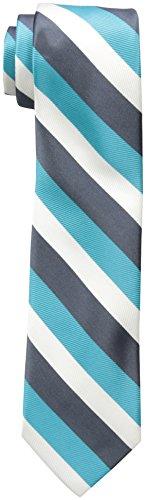 Wembley Big Boys Wembley Boys Tri-color Stripe Tie, Aqua, OS