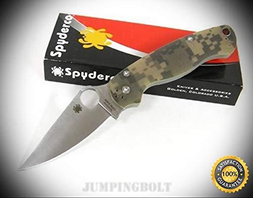 (Camo Para-Military 2 II Plain Edge Folding Knife C81GPCMO2 - Premium Quality Very Sharp EMT)
