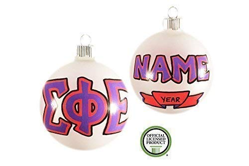 Customizable Hand Painted Sigma Phi Epsilon Christmas Ornament