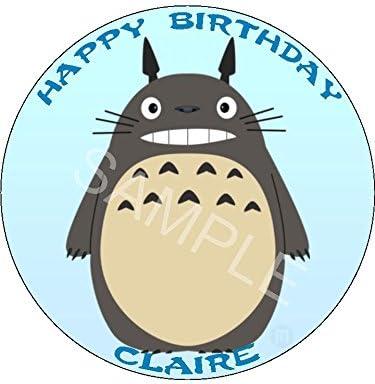 Phenomenal Totoro 7 5 Round Personalised Birthday Cake Topper Printed On Funny Birthday Cards Online Aeocydamsfinfo