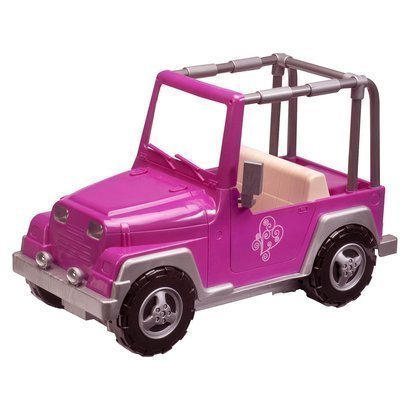 Our Generation 4x4 Jeep Car for 18 inch dolls like American Girl PINK by Our Genereation