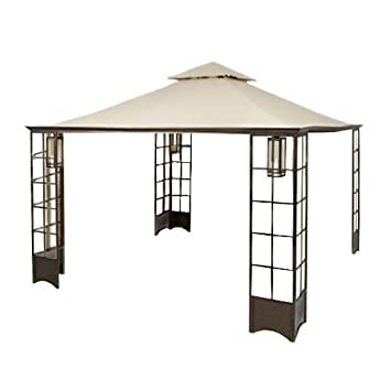 Garden Winds LCM506B-UGF-RS Home Depot s Trellis Gazebo, RipLock 500 Replacement Canopy