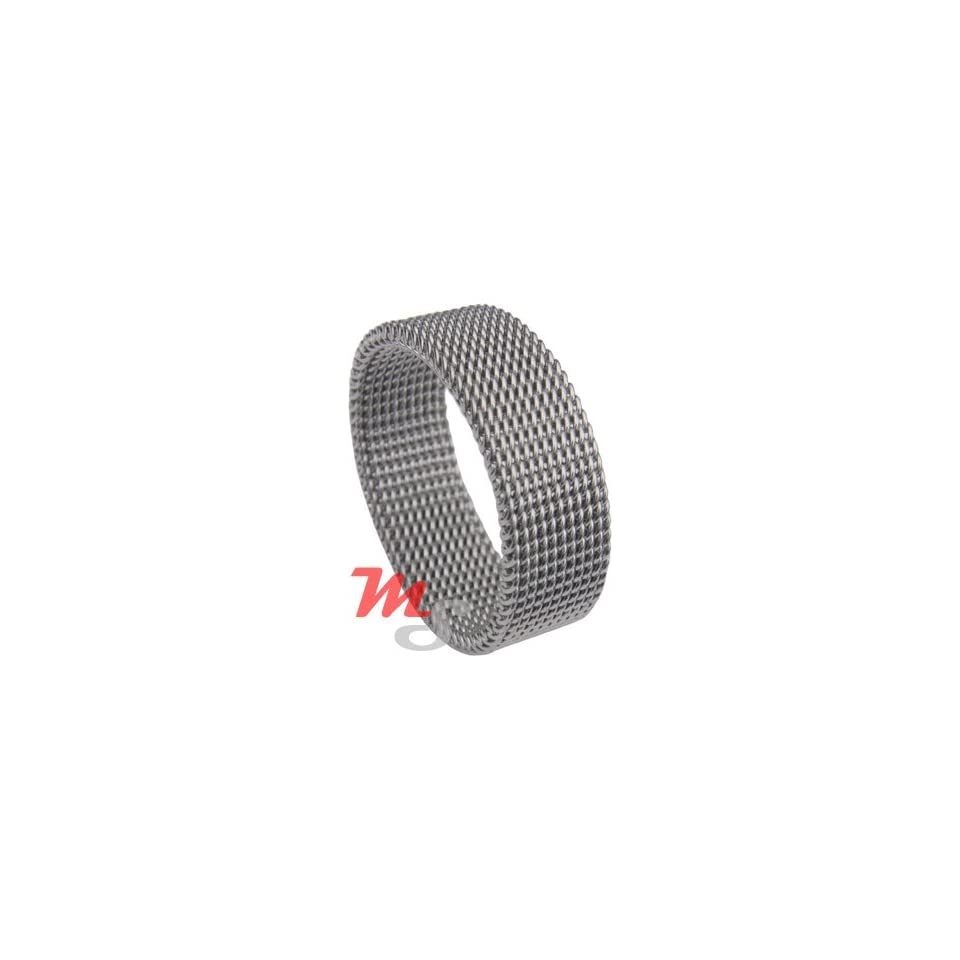 Women Stainless Steel MESH Ring Band Classic girl sz 5