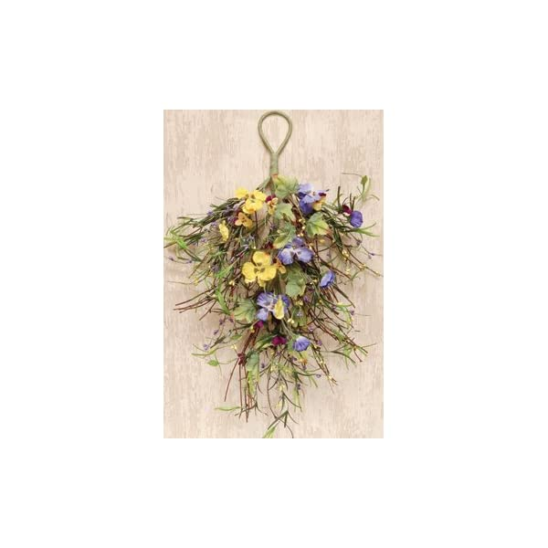CWI Mixed Pansy Teardrop 22″