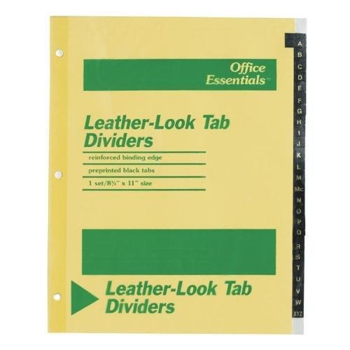 11483 Avery A-Z Leather-Look Tab Dividers - Printed A - Z - 8.50