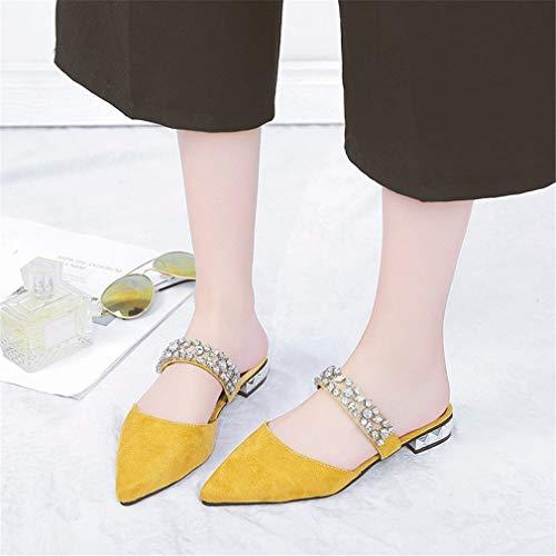 YUCH Yellow YUCH Pantoufles Pantoufles Femmes pour gnzqw7Pnx