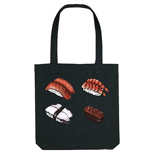 Tote Coton Sushis Gs kase vintage Noir My f1Zn5