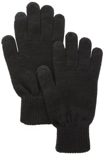 Touchpoint Men's Knit Shima Glove, Black, One Size