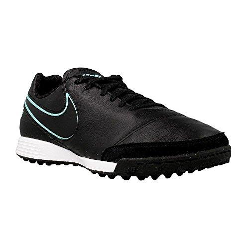 Nike Menns Tiempox Genio Ii Skinn Torv Fotballsko Svart / Hyper Turkis Fotballsko