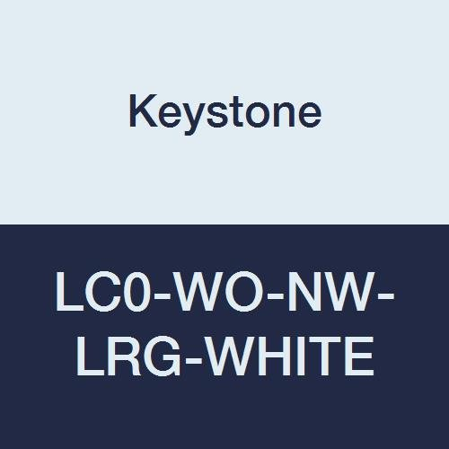 Keystone LC0-WO-NW-LRG-WHITE Polypropylene Lab Coat, No Pocket, Open Wrists, Snap Front, Single Collar, Large, White (Pack of 30)