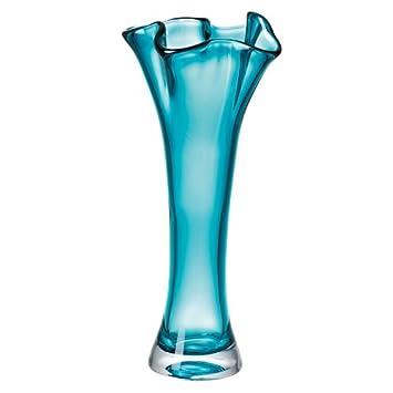 Amazon Organics Turquoise Crystal Cylinder Vase By Lenox
