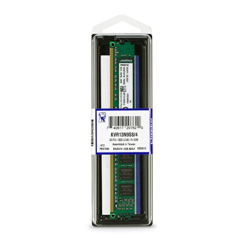 Kingston Technology 4GB 1333 MHz 240-Pin DDR3 SDRAM Memory Module (KVR13N9S8/4) by Kingston Technology (Image #2)'