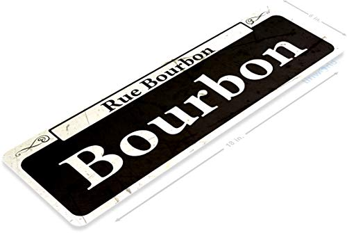 - Tinworld TIN Sign A866 Bourbon Rustic Street Metal Sign New Orleans Shop Market French Quarter 6