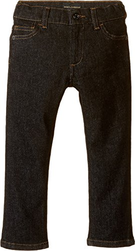 Dolce Gabbana Black Jeans (Dolce & Gabbana Kids Boys' Back To School Black Jeans (Toddler), Charcoal Denim, 6 (Little Kids) X One Size)