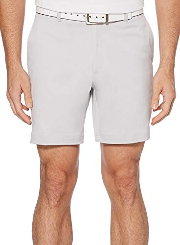 PGA TOUR Men's Flat Front Golf Short with Active Waistband, Microchip, 36 Waist, 7 Inch Inseam