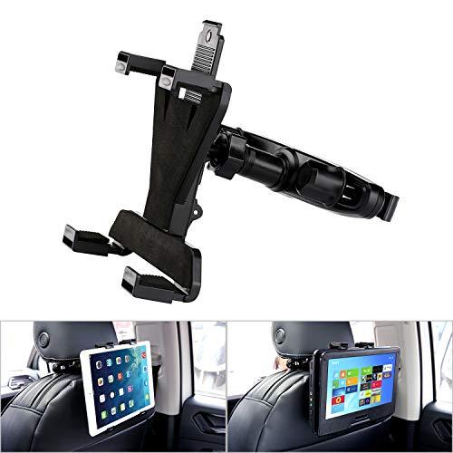 13 Inch Dvd - YOOHOO Tablet Car Headrest Mount, Universal 9'' DVD Player Holder for Car Backseat Seat Mount,360° Rotating Adjustable,for All 7