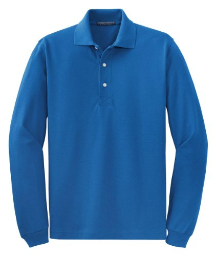 Port Authority Signature - Rapid Dry Long Sleeve Polo. K455LS - Royal_L
