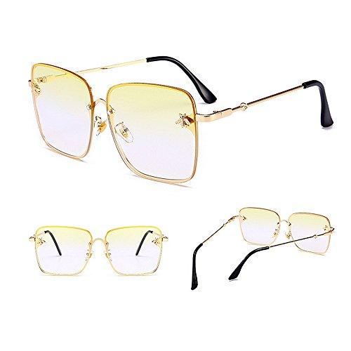 la de Protección C3 Las Verano del la la Personalidad Decoración Sol Conducir Playa Peggy Gafas de la de de Color de para la UV Mujeres C3 para Gu Abeja qMw66ZIC