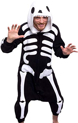 Silver Lilly Unisex Adult Pajamas - One Piece Cosplay Costume (Skeleton, M)