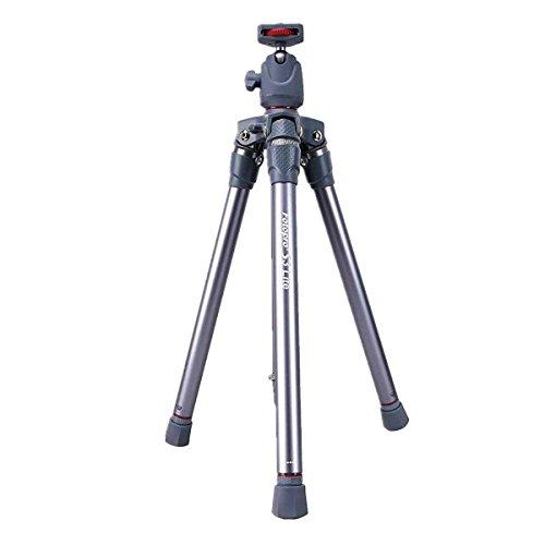 Fotopro Lightweight Camera Tripod Entry Level Tripod with Ball Head for DSLR Camera, Digital Camera, Gopro, Smartphone(Grey+Red)