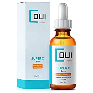 SUPER VITAMIN C DAILY FACIAL SERUM - Hyaluronic Acid, Collagen, Sea Kelp, EGF Blend for Anti Aging Daily Facial Skin Care - Best for Face, Neck and Eyes - Rejuvenate Your Skin with Natural Ingredients