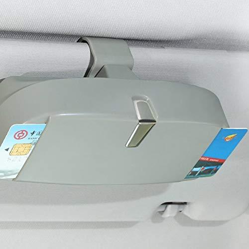 Gris ZengBuks Etui /à Lunettes de Voiture Multifonctions Lunettes de Soleil Ticket Ticket Receipt Card Storage Holder