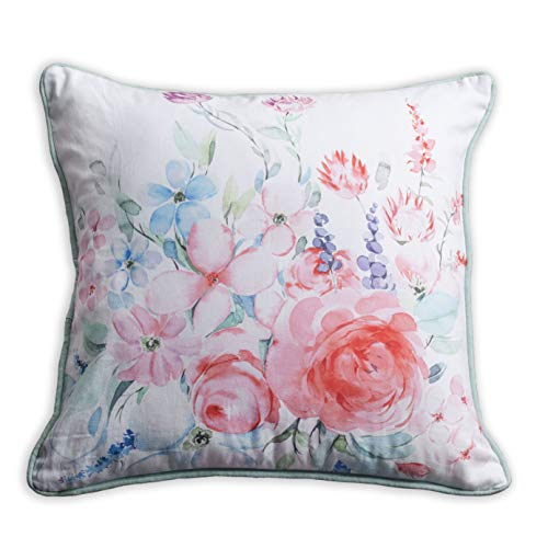 Maison d Hermine Pale Garden 100 Cotton Summer Garden Decorative Pillow Cover 18 Inch by 18 Inch