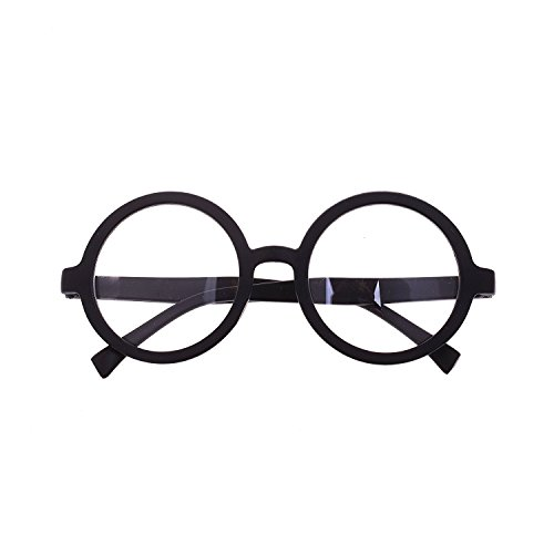 Harry Potter Style Plastic Black Frame Circle Round Glasses Halloween Party Eyeglasses Costume Accessory