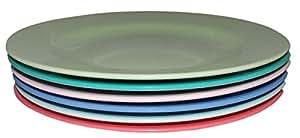 "6 platos melamina lakeballs ""estancia excepcional"" colores por arroz DK"