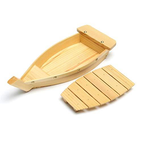 TOOGOO 42X17X7.5Cm Japanese Cuisine Sushi Boats Sushi Tools Wood Handmade Simple Ship Sashimi Assorted Cold Dishes Tableware Bar