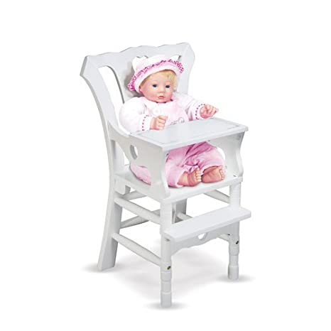 Delicieux Amazon.com: Melissa U0026 Doug Deluxe Wooden Doll High Chair: Melissa U0026 Doug,  Doll 788 : Toys U0026 Games