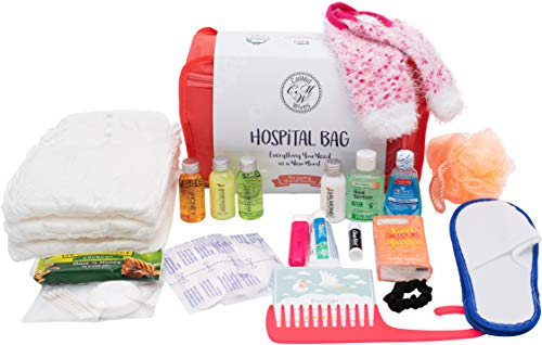 Hospital Bag for Labor and Delivery, Pre-Packed Set of 20, Underwear: M-Size