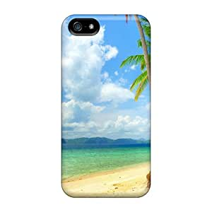 Dur6004dptD Case Cover Protector For Iphone 5/5s Blue Ocean And Beach Case