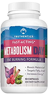 Natural Stimulant-Free Metabolism Booster Support with Carb Blocker | Encourages Healthy Weight Loss | 8 Non GMO Ingredients with Forskolin, Alpha Lipoic Acid, Green Tea Extract, More | Women & Men